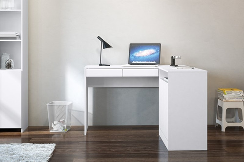 escritorio esquinero portugal carvalho 2 cajones y pu
