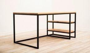 escritorio estilo industrial de hierro y madera