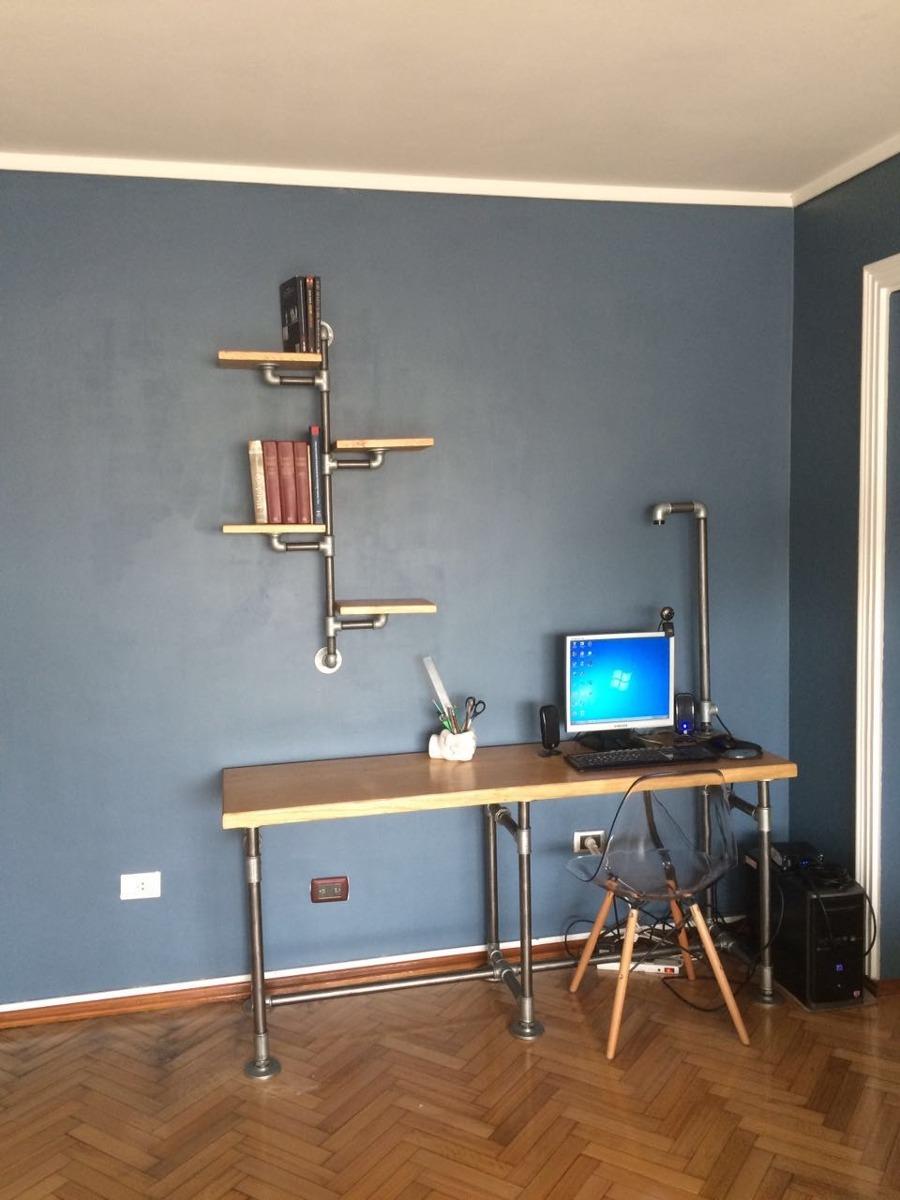 escritorio estilo industrial vintage retro cao plommer
