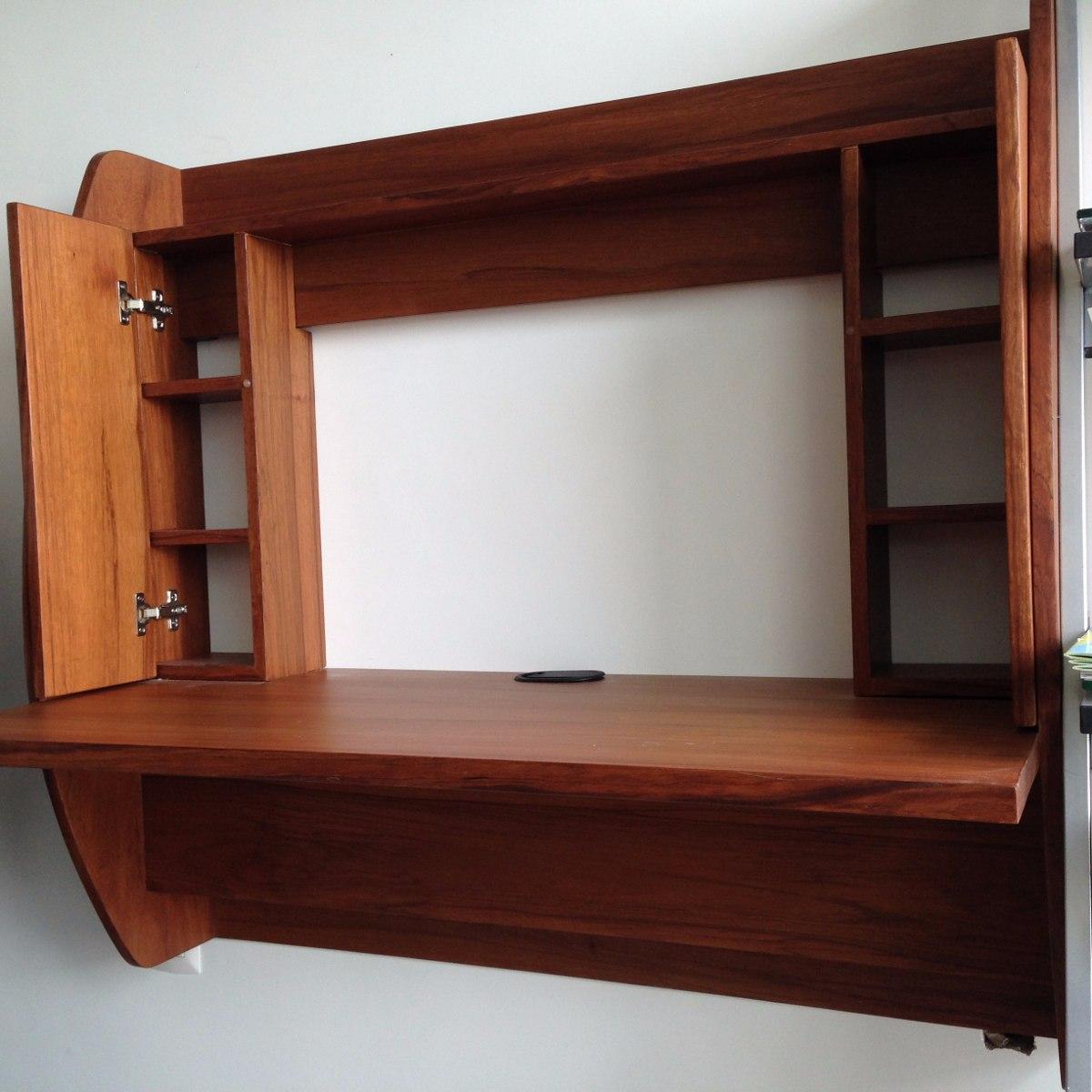 escritorio flotante minimalista de pared
