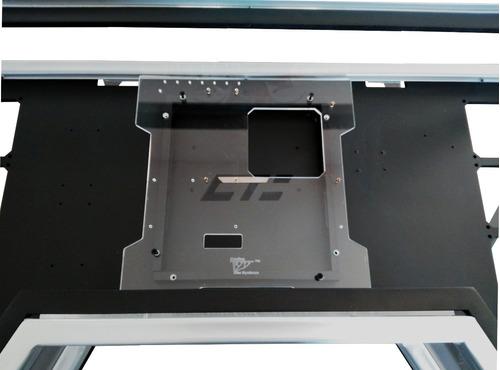 escritorio gabinete vrk gamer desk rgb vidrio templado pc