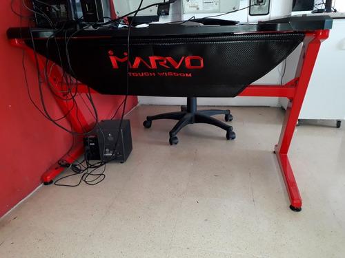 escritorio gamer marvo como nuevo. tienda