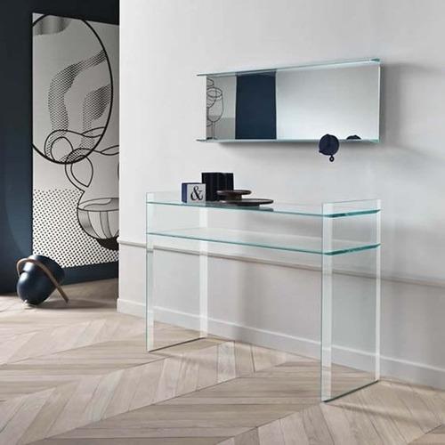 escritorio gerencial con estante en vidrio!!