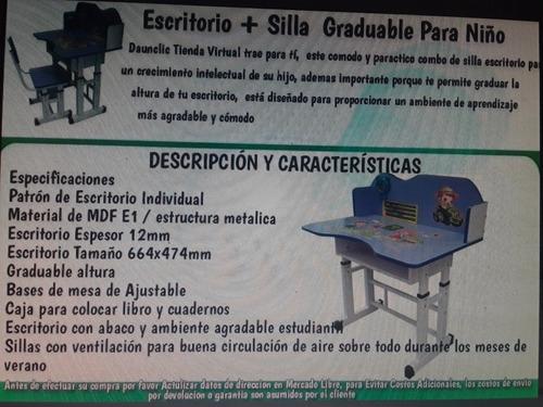 escritorio graduable modelos de niña mas envio