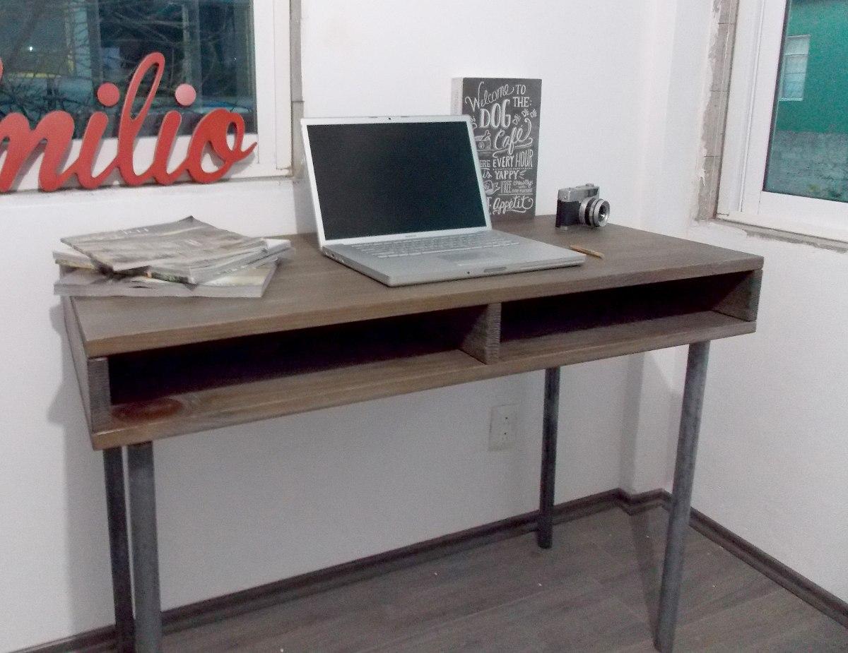 Escritorio Industrial Vintage Mesa De Madera Tubo Reciclado $ 4 500  #943937 1200x925