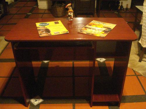 escritorio infantil niño/a cerezo bandeja teclado y estantes