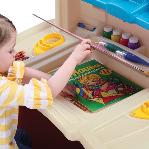 escritorio juguete niños step2 deluxe art master xtreme
