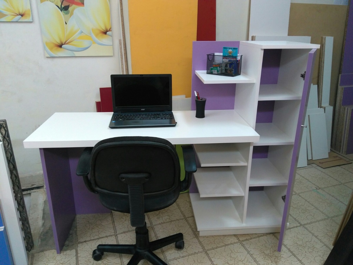 escritorio juvenil biblioteca organizador moderno