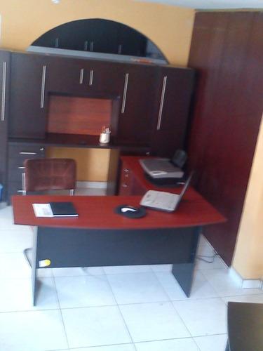 escritorio l con archivero con llave funcional super precio