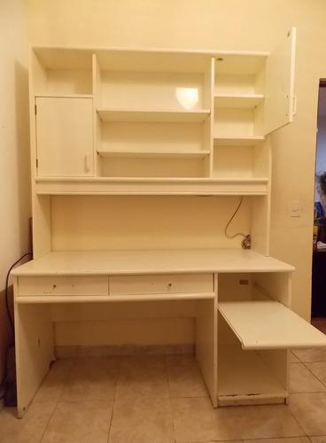 escritorio laqueado blanco