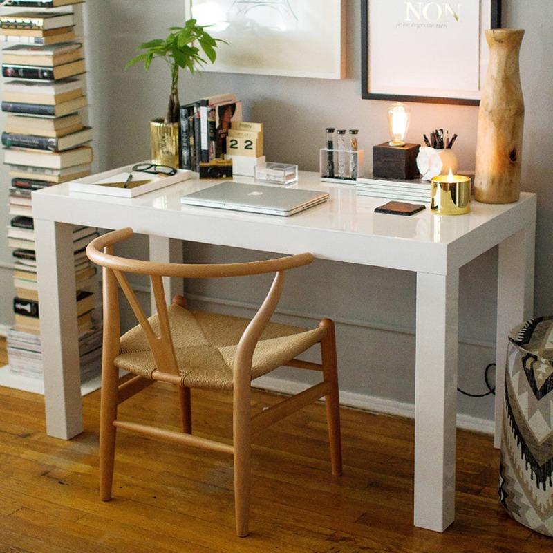 Escritorio Oficina Madera.Escritorio Laqueado Mesa Asia Oficina Madera Moderna 100x60