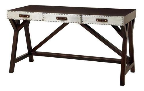 escritorio madera y aluminio