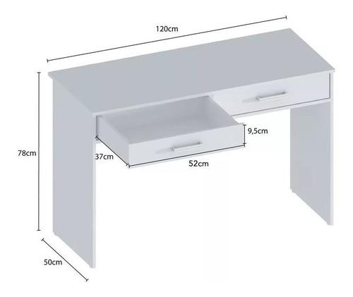 escritorio melamina 2 cajones 1,20m oficina sc1250 paris+