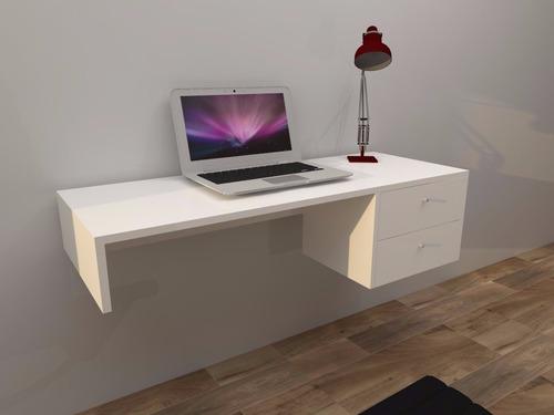 escritorio melamina flotante 02 cajones
