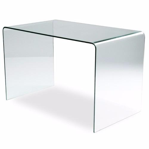 Escritorio mesa cristal templado termoformado by prom bel - Mesas escritorio de cristal ...