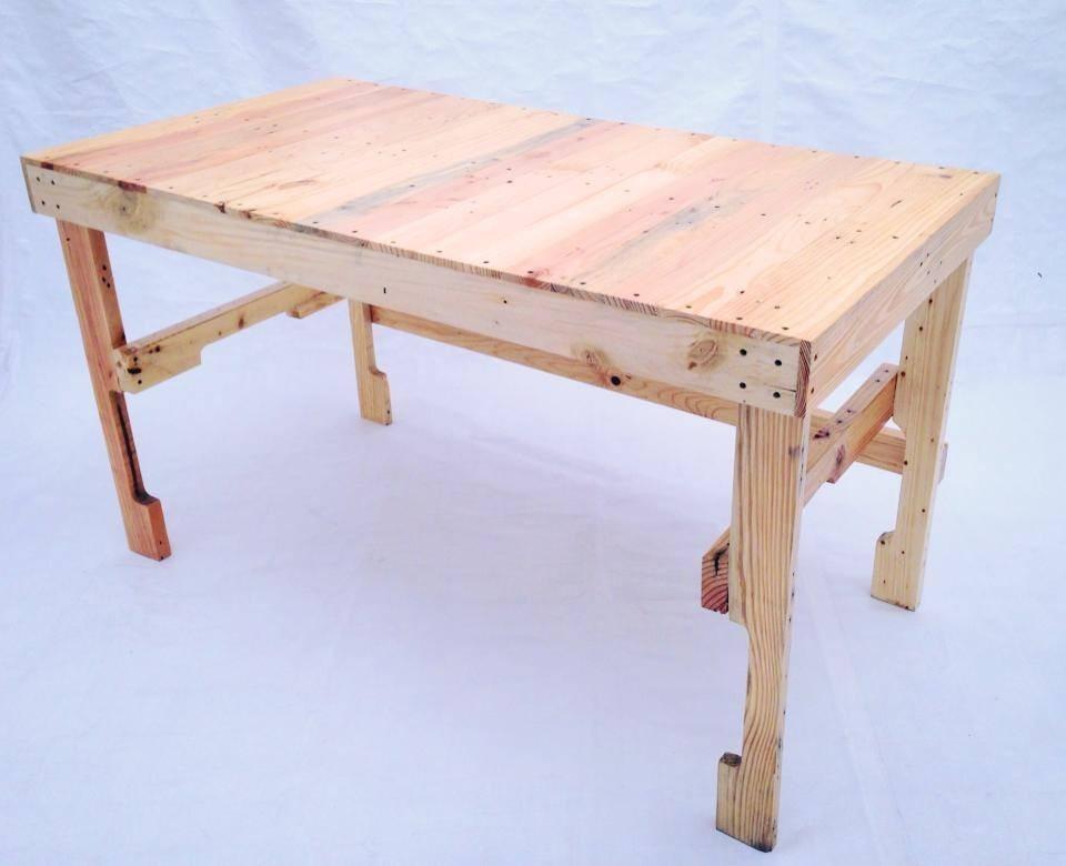 Escritorio mesa de trabajo 180 cm madera tarima - Mesa escritorio madera ...