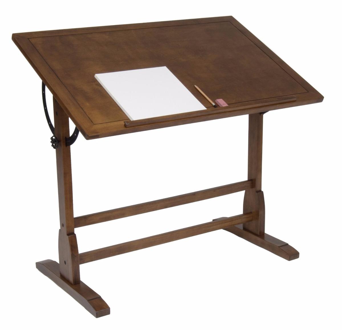 Escritorio mesa de trabajo restirador antiguo dibujo 107 for Mesa de dibujo ikea