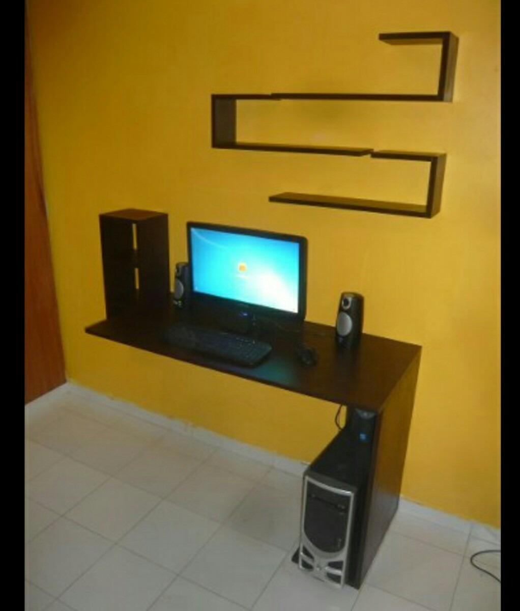 Escritorio mesa para computadora flotante a rea moderna for Mesas escritorio modernas