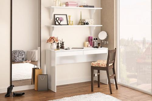 escritorio mesa para pc texturado 2 cajones lindoia 2104