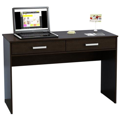 escritorio mesa pc 2 cajones wengue