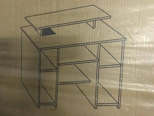escritorio mesa pc color roble