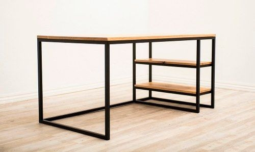 Escritorio metal madera personalizado oficina escuela for Pedestales metalicos para mesas