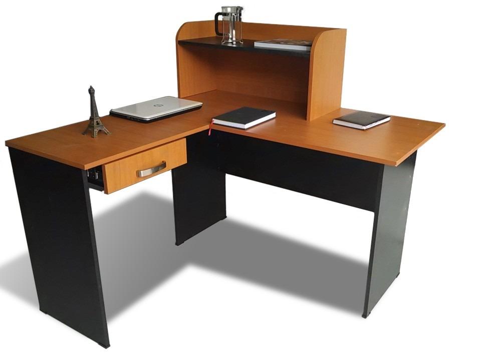 Escritorio minimalista blanco c archivero 3 gavetas c for Muebles de oficina con llave
