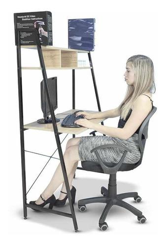 escritorio minimalista de madera moderno con repisas p hogar