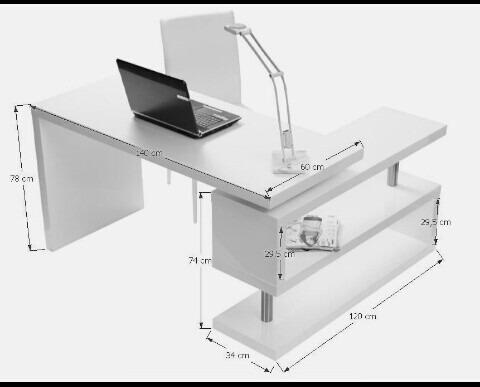 escritorio minimalista giratorio