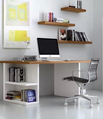 escritorio minimalista juvenil cubo oficina pc moderno 25mm