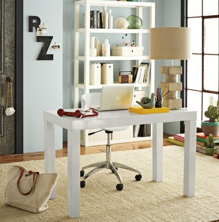 escritorio minimalista madera moderno asia laqueado mesa