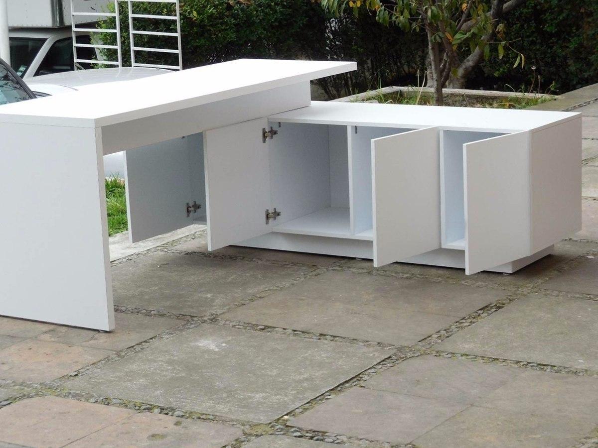 escritorio minimalista moderno mueble tipo l melamina mdp On muebles tipo minimalista
