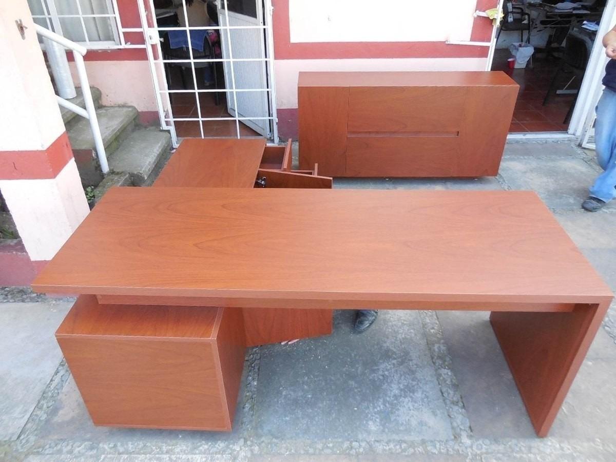 Escritorio minimalista moderno mueble tipo l melamina mdp - Mueble escritorio moderno ...