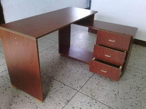escritorio minimalista moderno mueble tipo l oficina repisas