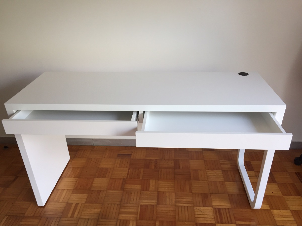 Escritorio minimalista tipo ikea color blanco 3 en mercado libre - Ikea escritorio blanco ...
