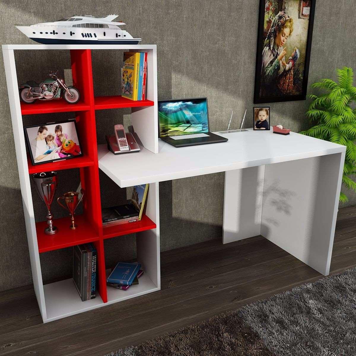Escritorio minimalista librero oficina casa moderno for Compra de muebles para oficina