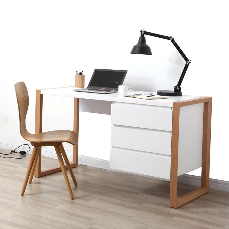 Escritorio moderno en madera lacado ref armel for Muebles de oficina modernos argentina