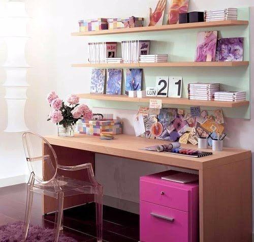 escritorio moderno juvenil organizador - feller muebles