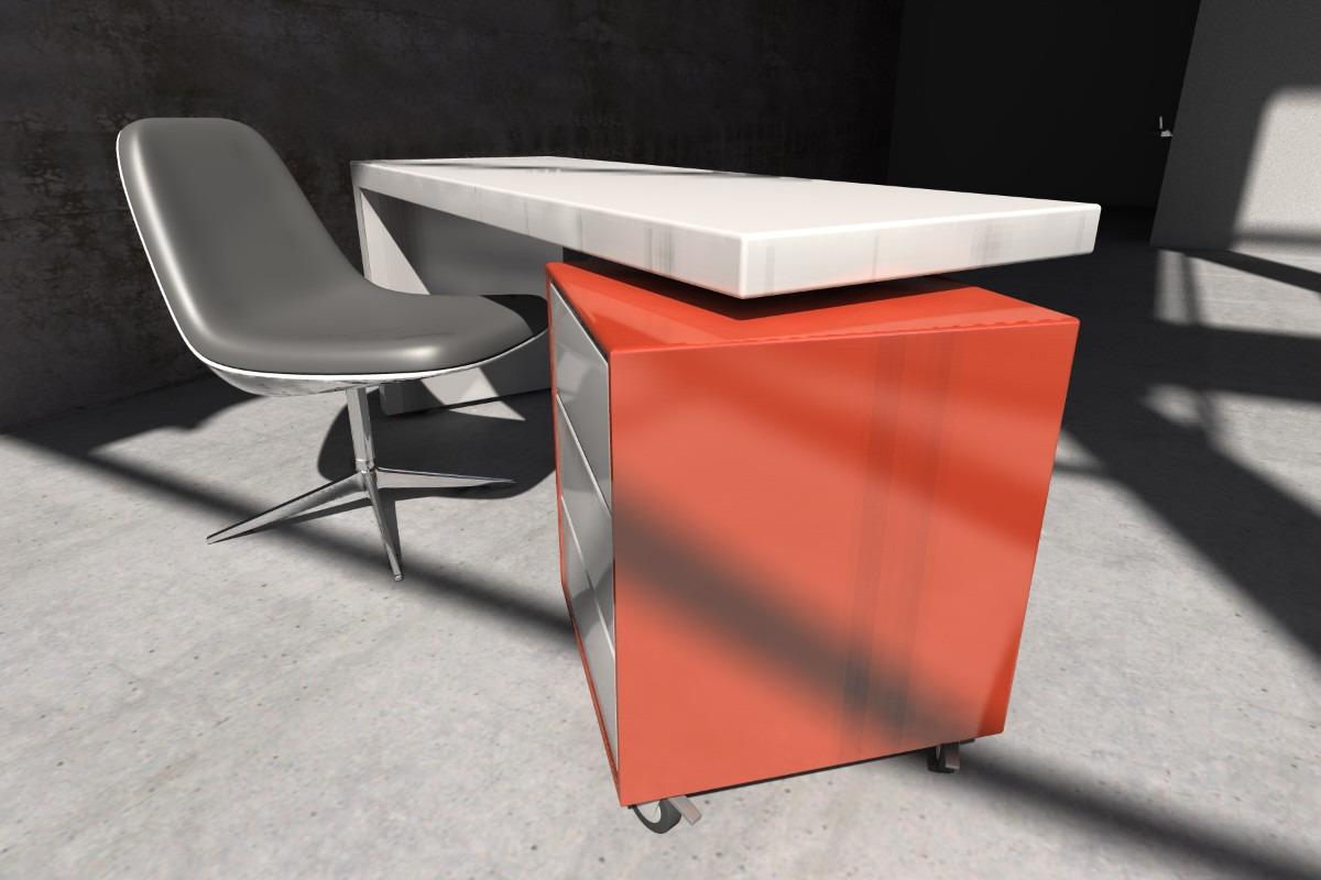 escritorio moderno laqueado diseo oficina pc