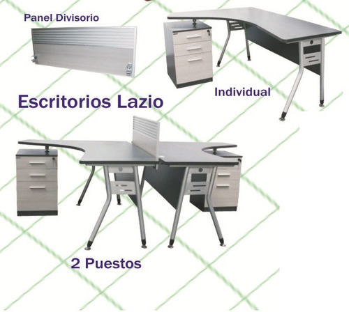 escritorio modular  lazio, idea ergonomico ejecutivo