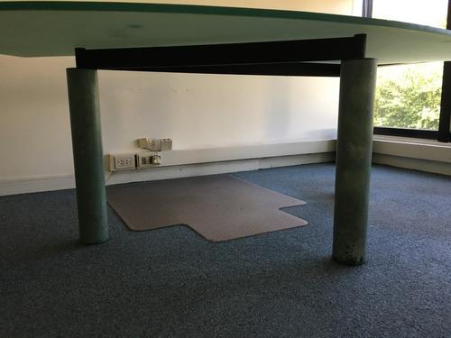 escritorio mostrador vidrio y hierro usado oportunidad!!!