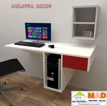 Escritorio mueble computo melamine moderno s 360 00 en - Mueble escritorio moderno ...