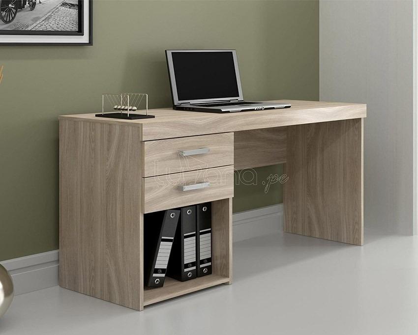 Escritorio mueble moderno melamina de 18 mm oferta s for Muebles de sala en oferta lima peru