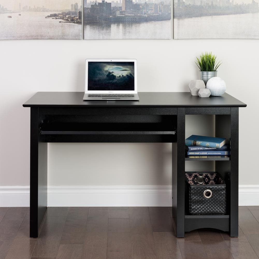 Escritorio mueble para computadora de prepac negro vbf for Escritorio para computadora