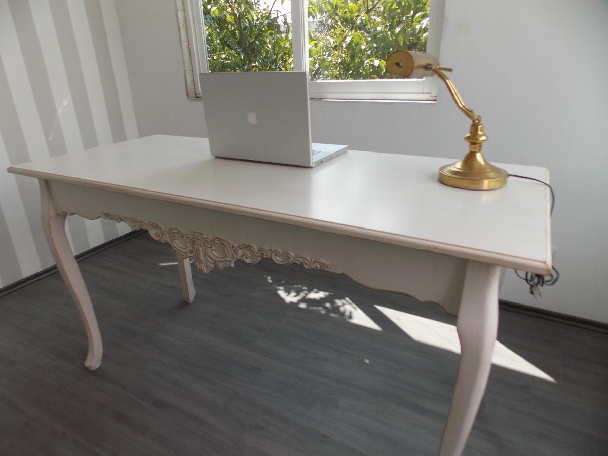 Escritorio mueble vintage mesa blanco antiguo decapado - Decapado de muebles ...