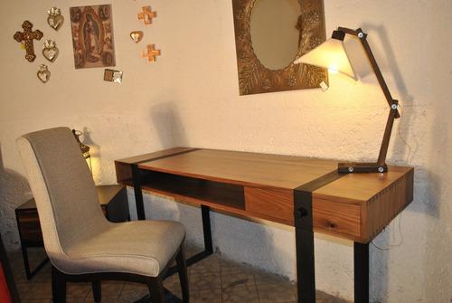 escritorio nogal 1 cajon