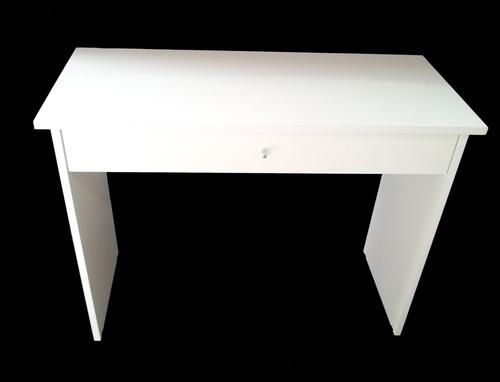 escritorio. notebook, tablet, netbook, pc. melamina blanca.