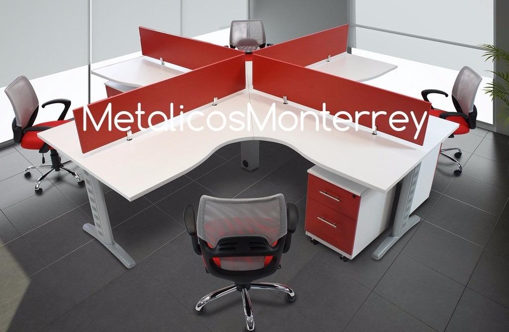 Escritorio oficina estacion de trabajo para 4personas for Oficina de empleo de segovia