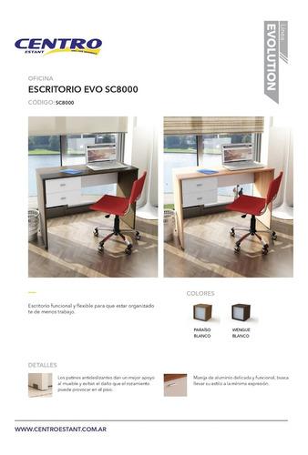 escritorio oficina habitacion 2 cajones 1mt sc8000