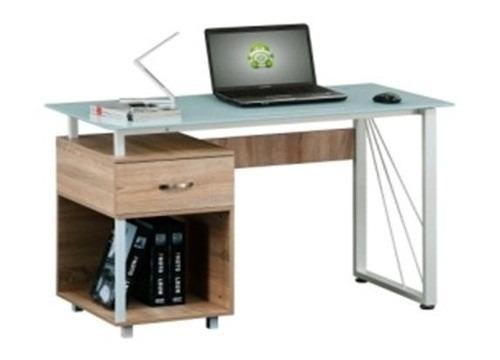 Mesa escritorio oficina vidrio templado mueble computacion for Escritorio mueble oficina